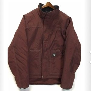 Carhartt burgundy insulated jacket Large